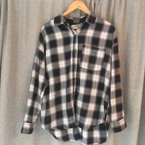 "Old Navy long sleeve flannel ""boyfriend"" shirt"